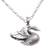 Sterling silver pendant necklace, 'Swan Lake' - Sterling Silver Swan Pendant Necklace from Bali (image 2d) thumbail
