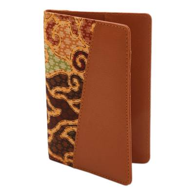 Handmade Cotton Batik and Faux Leather Passport Case