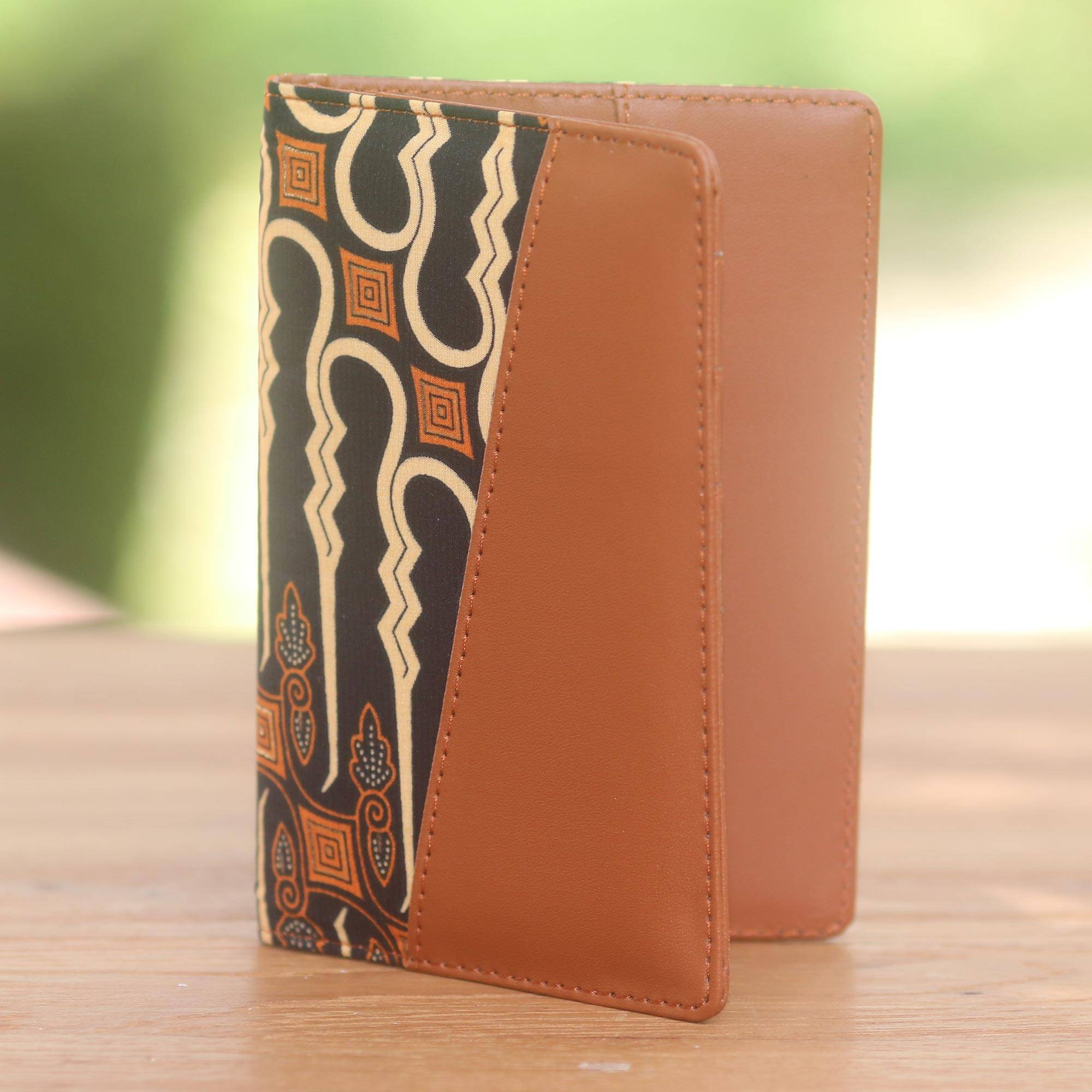 Words Puzzle Values Leather Passport Holder Cover Case Travel One Pocket