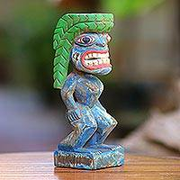 Wood statuette, 'Papua Spirit' - Wood Statuette Inspired by Papua Designs from Bali