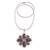 Smoky quartz pendant necklace, 'Buddha's Curl Snowflake' - Smoky Quartz Buddha Curl Necklace from Bali (image 2d) thumbail