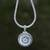 Reversible sterling silver pendant necklace, 'Secret Eden' - Reversible Sterling Silver Ornate Medallion Pendant Necklace (image 2) thumbail