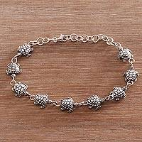 Featured review for Sterling silver link bracelet, Turtle Promenade