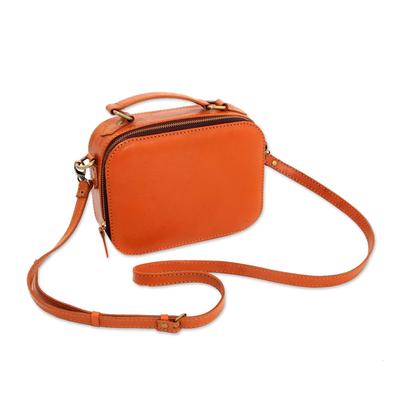 Handmade Leather Shoulder Bag from Java