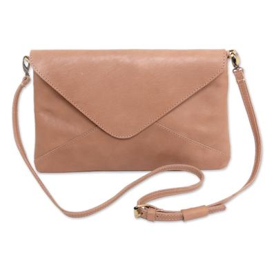 Adjustable Strap Leather Sling Handbag from Indonesia