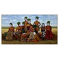 'Generation Queen' (2014) - Signed Painting of Javanese Tribal People (2014)
