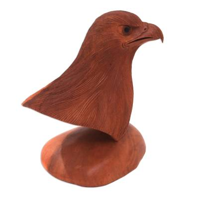 Suar Wood Bust Sculpture of an Eagle from Bali