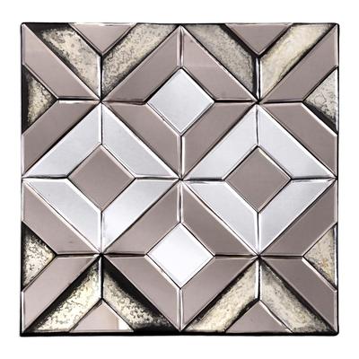 Geometric Glass Decorative Mirror from Java