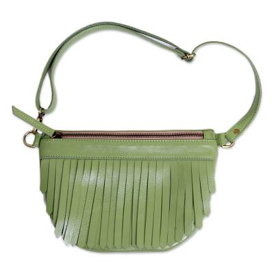 Bohemian Leather Sling in Avocado from Java