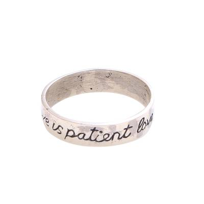 Romantic Sterling Silver Band Ring from Bali