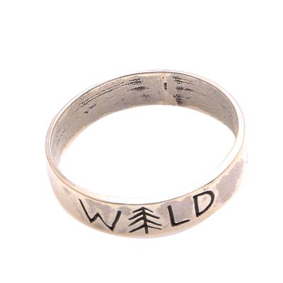 Sterling Silver Band Ring Crafted in Bali