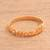 Gold plated sterling silver band ring, 'Namaste' - Gold Plated Sterling Silver Namaste Band Ring from Bali thumbail