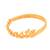 Gold plated sterling silver band ring, 'Namaste' - Gold Plated Sterling Silver Namaste Band Ring from Bali (image 2b) thumbail