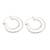 Sterling silver hoop earrings, 'Bold Glamour' - Sterling Silver Hoop Earrings Crafted in Bali thumbail