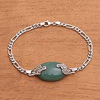 Aventurine pendant bracelet, 'Growing in the Morning' - Aventurine Pendant Bracelet from Bali