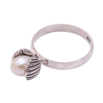 Cultured Pearl Clam Cocktail Ring from Bali