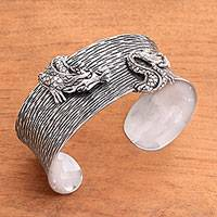 Featured review for Sterling silver cuff bracelet, Majestic Creature