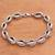 Sterling silver link bracelet, 'Chained Up' - Sterling Silver Link Bracelet Crafted in Bali thumbail