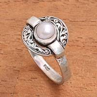 Featured review for Cultured pearl cocktail ring, Circular Glow