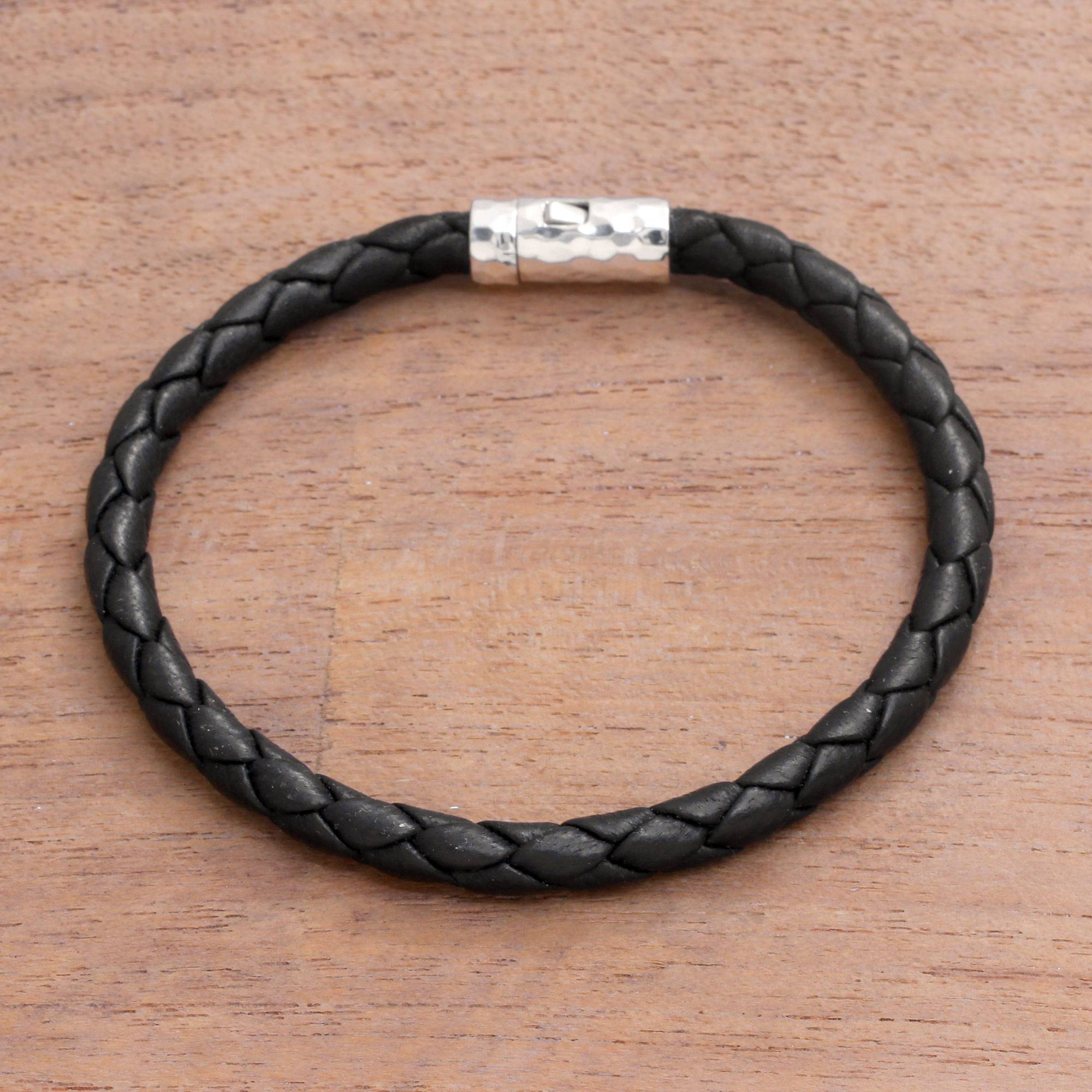 Leather Braided Bracelet From Bali