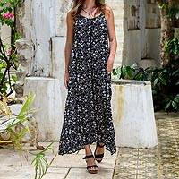 13a404cbe7 Rayon maxi sundress, 'Venus Flowers' - Floral Printed Rayon Maxi Sundress  from Bali
