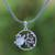 Garnet pendant necklace, 'Sea Turtle Family' - Garnet Sea Turtle Pendant Necklace from Bali (image 2) thumbail