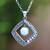 Cultured pearl pendant necklace, 'Moon Gate' - White Cultured Pearl Pendant Necklace from Bali (image 2) thumbail