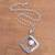 Cultured pearl pendant necklace, 'Moon Gate' - White Cultured Pearl Pendant Necklace from Bali (image 2b) thumbail