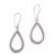 Sterling silver dangle earrings, 'Naga Tears' - Drop-Shaped Sterling Silver Naga Chain Dangle Earrings (image 2a) thumbail