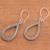 Sterling silver dangle earrings, 'Naga Tears' - Drop-Shaped Sterling Silver Naga Chain Dangle Earrings (image 2b) thumbail