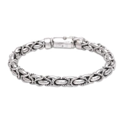 Handmade Sterling Silver Chain Bracelet from Bali