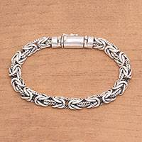 Sterling silver chain bracelet, 'Generous Spirit' - Artisan Crafted Sterling Silver Chain Bracelet from Bali