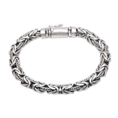 Sterling silver chain bracelet, 'Generous Spirit' - Artisan Crafted Sterling Silver Chain Bracelet from Bali