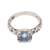 Blue topaz single stone ring, 'Temple Heirloom' - Blue Topaz Single Stone Ring Crafted in Bali thumbail