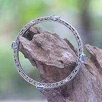 Blue topaz bangle bracelet,