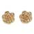 Gold plated sterling silver stud earrings, 'Blooming Rose' (.5 inch) - 18k Gold Plated Sterling Silver Rose Stud Earrings (.5 inch) (image 2a) thumbail