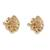 Gold plated sterling silver stud earrings, 'Blooming Rose' (.5 inch) - 18k Gold Plated Sterling Silver Rose Stud Earrings (.5 inch) (image 2b) thumbail