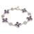 Multi-gemstone reversible link bracelet, 'Petals of Fortune' - Multi-Gemstone Reversible Link Bracelet from Bali (image 2a) thumbail