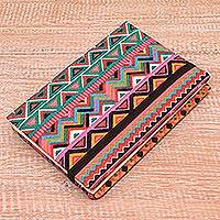 Cotton journal, 'Tribal Rainbow' (6 inch) - Rainbow Cotton Journal from Java (6 in.)