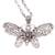 Garnet pendant necklace, 'Elaborate Butterfly' - Garnet and Sterling Silver Butterfly Pendant Necklace (image 2d) thumbail