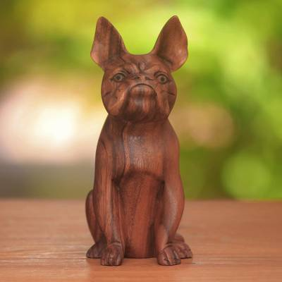 Wood sculpture, Obedient Dog