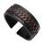 Leather cuff bracelet, 'Tenacity' - Black Leather Cuff Bracelet with Criss-Cross Laces (image 2d) thumbail