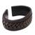 Leather cuff bracelet, 'Tenacity' - Black Leather Cuff Bracelet with Criss-Cross Laces (image 2e) thumbail