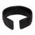 Leather cuff bracelet, 'Tenacity' - Black Leather Cuff Bracelet with Criss-Cross Laces (image 2f) thumbail