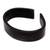 Leather cuff bracelet, 'Sagacity' - Black Leather Cuff Bracelet with Distressed Finish (image 2d) thumbail