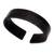 Leather cuff bracelet, 'Sagacity' - Black Leather Cuff Bracelet with Distressed Finish (image 2e) thumbail