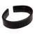 Leather cuff bracelet, 'Sagacity' - Black Leather Cuff Bracelet with Distressed Finish (image 2f) thumbail