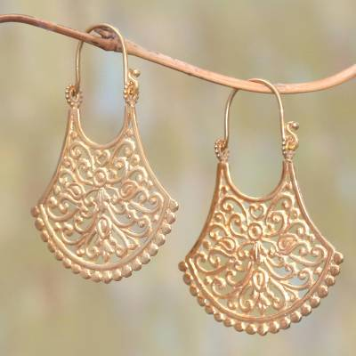 Gold plated drop earrings, Alam Bali