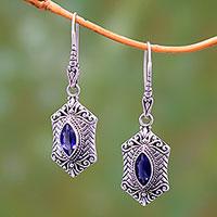 Iolite dangle earrings,