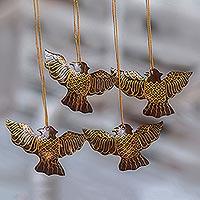 Coconut shell ornaments,
